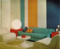 This is an actual room from the 70's .. the block colors were very in.