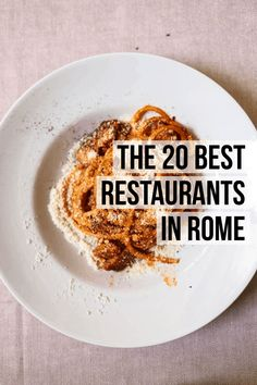 The 20 Best Rome Restaurants (2020) | Female Foodie