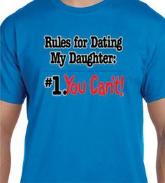 Funny t shirt for him. Dad will warn the boys to stay away from his daughter! Get plenty of laughs with this funny tshirt. Great gift idea for,
