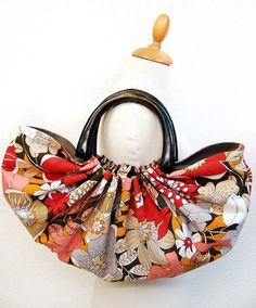 Retro reversible handbag by GabardineCouture on Etsy, 78.00