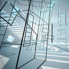 Installation Art-Light + Space Retail Model Puts Spatial Relations to the Test Bauhaus, Futuristic Interior, Futuristic Art, Modernisme, Light And Space, Retail Interior, Space Architecture, Exhibition Space, Retail Design