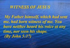 HOLY WORD: WITNESS OF JESUS