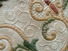 Trapunto and quilting detail