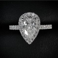 """Laced in Weddings on Instagram: """"Gorgeous 2.00 CT Tear Drop #engagement ring designed by @michaelarthur_jeweller"""""""