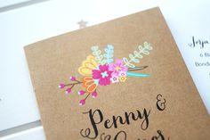 Penny & Conor | Passport Invitations | Kraft Invitations | Tropical | Starry Night Paperie
