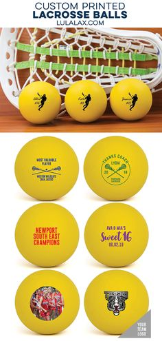 Our custom printed lacrosse balls are a fun and unique gift for any occassion! Perfect for team and coach gifts, sweet 16 party favors, promposals and more! Sweet 16 Party Favors, Sweet 16 Parties, Girls Lacrosse, Customized Girl, Top Girls, Coach Gifts, Print Logo, Personalized Gifts, Balls