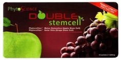 100% Original Phytoscience Double StemCell Apple Grape Anti Aging (14 Sachet s )