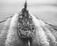 US battleship Alabama underway in Puget Sound Washington United States 15 March 1945.