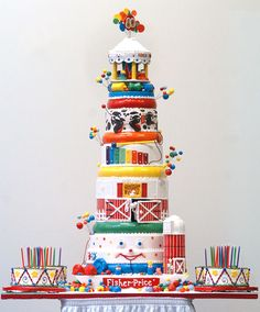 Fisher Price cake ~ awesome