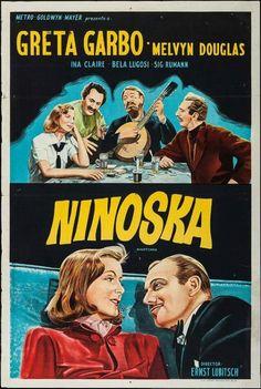 """Greta Garbo """" Ninotchka """" movie poster (1939)"""