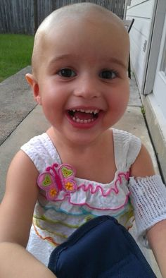 The sweetest 2 year old little girl Raelyn Cutbirth. Diagnosed with cancer but still inspirational