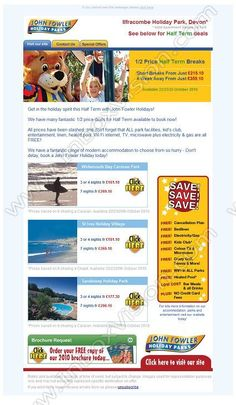 Company:    John Fowler Holidays Ltd.    Subject:    Amazing Half Term Deals this October              INBOXVISION is a global database and email gallery of 1.5 million B2C and B2B promotional emails and newsletter templates, providing email design ideas and email marketing intelligence http://www.inboxvision.com/blog