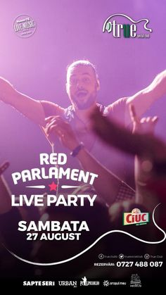 Red Parlament Live Party | PeLipscani.RO | Ghid dedicat Centrului Vechi… Live, Party, Red, Receptions, Parties