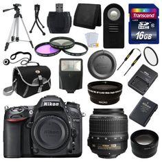 photo-video: Nikon D7100 Digital SLR DSLR Camera +3 Lens 18-55 VR 16GB Full Complete Kit New #Camera - Nikon D7100 Digital SLR DSLR Camera +3 Lens 18-55 VR 16GB Full Complete Kit New...