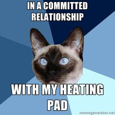 Yes, I'm in a committed relationship with my heating pad.