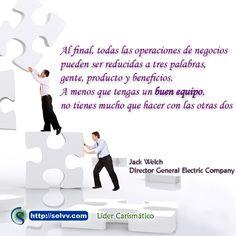 Al final todas las operaciones de negocios pueden ser reducidas a tres palabras, gente producto y beneficios. A menos que tengas un buen equipo, no tienes mucho que hacer con las otras dos. http://selvv.com/lider-carismatico/