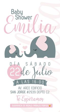 Invitación Baby shower mujeres Invitación Baby shower