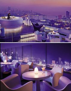Mumbai's highest rooftop bar is perched atop the chic Four Seasons Hotel, covering the entire roof of the 34th floor. Aer features modern white furniture and a glass balcony wall that might just give you a little bit of vertigo if you approach it too quickly.