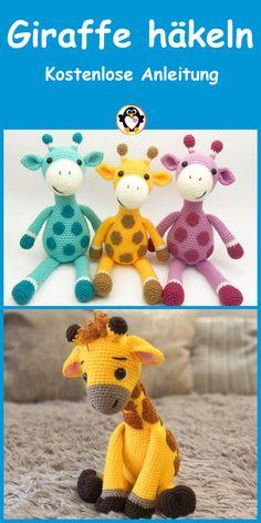 Easy Crochet Patterns, Amigurumi Patterns, Baby Patterns, Knitting Patterns, Crochet Toys, Free Crochet, Amigurumi Giraffe, Giraffe Crafts, Beach Crochet