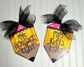 Teacher Appreciation, Custom Teacher gift, Classroom Door Hanger, Pencil Door Hanger, Classroom Sign