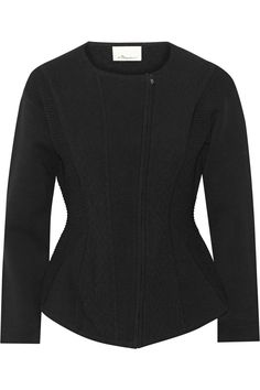 3.1 PHILLIP LIM Paneled textured stretch-knit jacket $398 http://www.theoutnet.com/products/670049