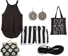 What I'd Like to Wear Wednesday: Black and White Summer: american eagle, summer, summer look, summer fashion, black and white, affordable looks