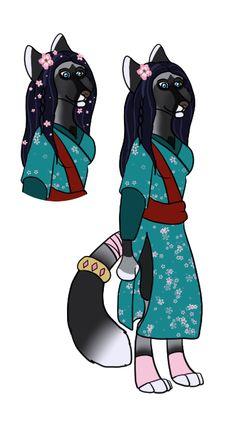 Lady-WynterFyre Biped Fox design 2 by SapphireSquire.deviantart.com on @DeviantArt