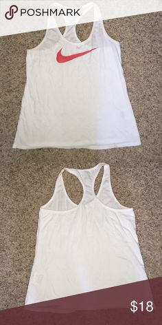 Nike racer back tank Size medium Nike racetrack tank, no stains like new condition Nike Tops