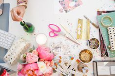 Why doesn't my desk look like this? Time to get glittering!