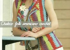 patron chaleco folk americano