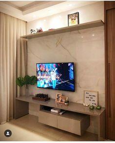 How to Make Money Dream Home Design, My Dream Home, House Design, Home Living Room, Living Room Designs, Backdrop Tv, Tv Wall Design, Interior Decorating, Interior Design