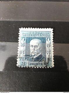 RARE 2 KORUNY CESKOSLOVENSKA USED  STAMP TIMBRE - Czechoslovakia