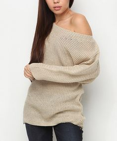 I love it in this color too :) #zulily! Mink Dolman Sweater #zulilyfinds