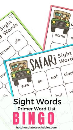 48 of the most common sight words in a legible font so that your new readers won't be confused. If your students are just beginning to recognize sight word vocabulary, this list is a great starting point because it gives them the practice they need both reading the words and listening for them to be called.