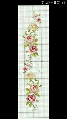 Cross Stitch Boarders, Butterfly Cross Stitch, Cross Stitch Rose, Cross Stitch Flowers, Cross Stitch Designs, Cross Stitching, Cross Stitch Embroidery, Cross Stitch Patterns, Blackwork