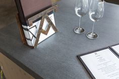 #Neolith in #AzurmendiRestaurant by #EnekoAtxa (with 3 Michelin Stars),  Bilbao (Spain). Basalt Grey (Fusion Collection), 5+ mm