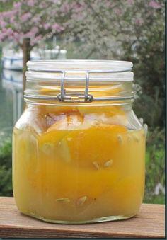 Preserved Meyer lemons, recipe at http://www.bainbridgestyle.com/2010/03/preserved-lemons.html