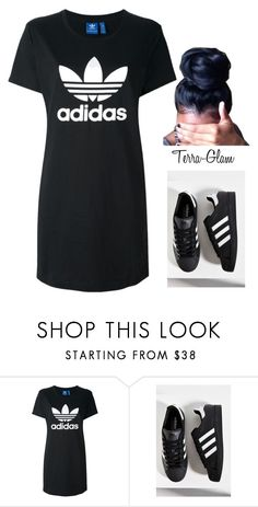 """""""It's The Weekend!!"""" by terra-glam ❤ liked on Polyvore featuring adidas Originals and adidas"""