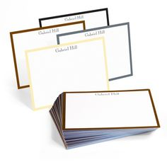 Personalized The Wall Street Border Flat Note Cards Collection, Create Beautiful & Unique Personalized Colorful Border Thank You Cards at The Stationery Studio Note Cards, Thank You Cards, All Paper, Consumer Products, Wall Street, Paper Weights, White Envelopes, Holiday Cards, Best Gifts