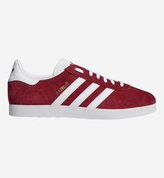 Basket femme adidas Originals Gazelle rouge disponibles sur girlsonmyfeet.com, click to shop 🔗 Adidas Gazelle, Basket Rouge, Nike Air, Baskets Adidas, Adidas Women, Adidas Originals, Adidas Sneakers, Shopping, Leather