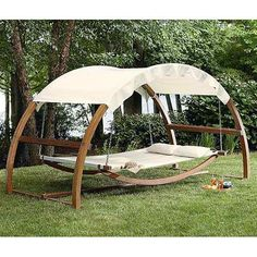 Patio Paver Ideas - New Porch Swing Bed Patio Furniture Hanging Canopy Wooden Hammock Add a touch of exclusivity to your porch with this stunning Leisure Season Porch Swing Bed. It features a covered hammock, a swing bed Canopy Swing, Hammock Swing, Hammock Ideas, Wood Canopy, Deck Canopy, Double Hammock, Swing Seat, Hammock Diy, Double Swing
