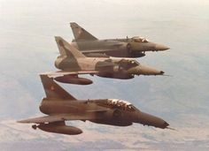 """british-eevee: """"South African Atlas Cheetah jets in formation """" Military Jets, Military Aircraft, Air Force Day, South African Air Force, Army Vehicles, Tactical Survival, Lifted Ford Trucks, Aircraft Pictures, Modern History"""