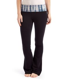 Another great find on #zulily! Black & Charcoal Tie-Dye Yoga Pants #zulilyfinds