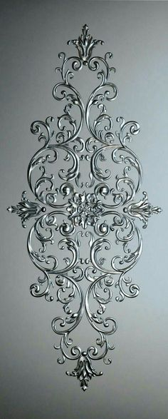"""""""~I want this as a wall headboard for my bed with tons of coordinating pillows"""", """"Discover thousands of images about"""" Motif Arabesque, Diy And Crafts, Arts And Crafts, Glue Art, Plaster Art, Motif Floral, Glass Design, Islamic Art, Diy Art"""