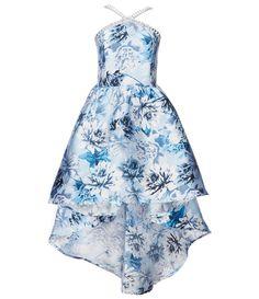 Xtraordinary Big Girls Jeweled-Neck Floral Mikado Hi-Low Dress Semi Dresses, Pretty Prom Dresses, Hi Low Dresses, Pretty Outfits, Homecoming Dresses, Cute Dresses, Cute Casual Outfits, Beautiful Dresses, Middle School Dance Dresses