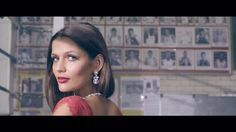 Glam makeup for The Boodles  Boxing Ball film. Smokey eyes and red lip. Makeup by Charlotte George