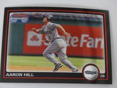 2010 Bowman Chrome #130 Aaron Hill Toronto Blue Jays Baseball Card #BowmanChrome #TorontoBlueJays