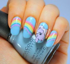 The Mani Café: My Little Pony #nail #nails #nailart