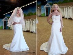 Designer Jasmine  Original Price: $800  The Brides Project Price: $250  Size 10