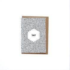 ♡ YAY greetings card